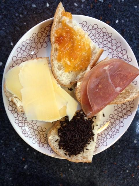 Glutenvrij broodje AH met beleg