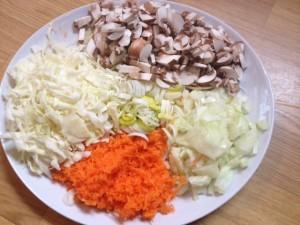 Groenten voor de glutenvrije nasi