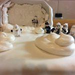 Star Wars taart vaneivrije meringue.