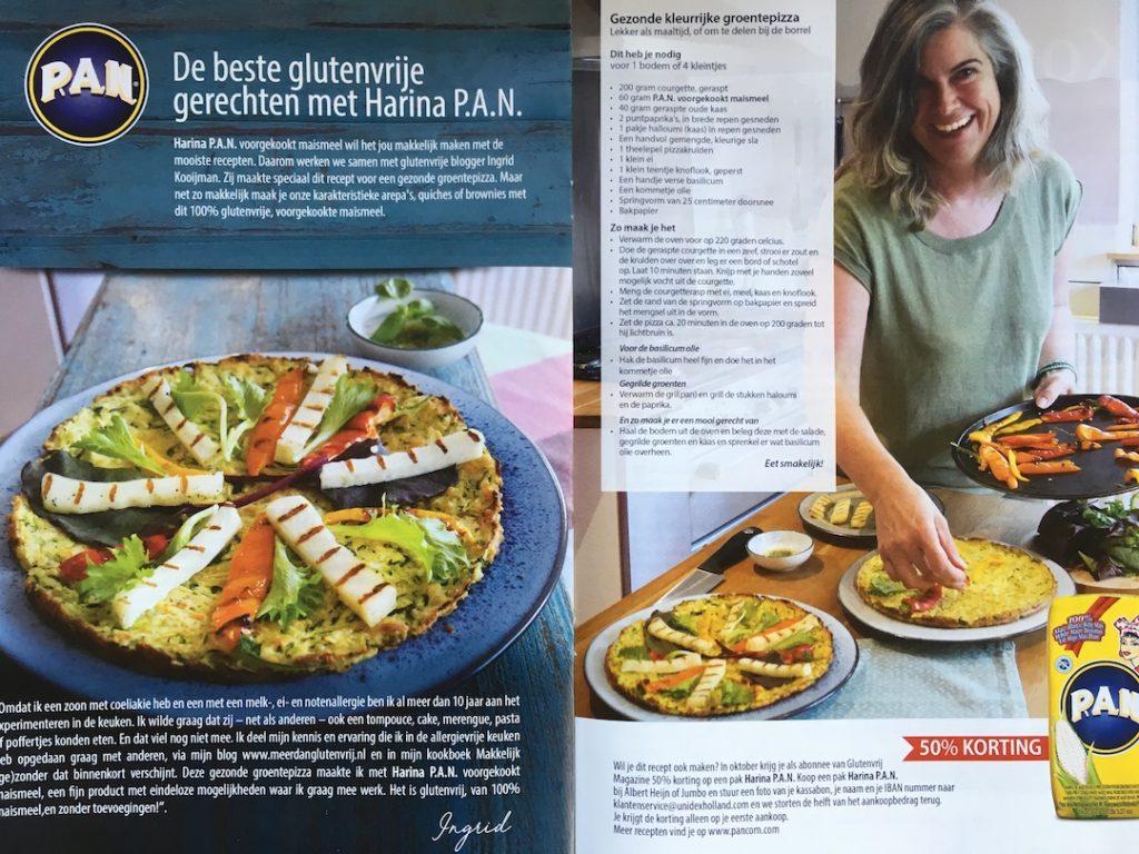 artikel in Glutenvrij magazine, samenwerking met PAN
